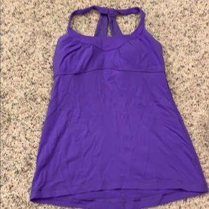 Purple lululemon work out tank top